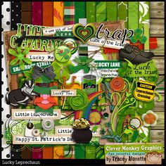 Lucky Leprechaun by Clever Monkey Graphics - Digital scrapbooking kits available through Oscraps, GingerScraps, or MyMemories