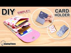 Cómo hacer cartera tarjetero fácil | Tutorila tarjetero [sewingtimes] - YouTube Diy Wallet Easy, Simple Wallet, Diy Wallet Tutorial, Sew Wallet, Card Wallet, Birthday Gifts For Teens, Teen Birthday, Origami Cards, Diy Simple