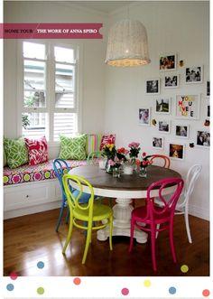 sillas de colores