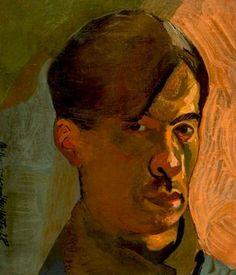 Frantisek Tichy : Self-portrait / 1928 / oil on canvas / 34 x cm Czech Rep. Galerie D'art, Oil On Canvas, Painters, Drawings, Artist, Painting Art, Selfies, Artists, Sketches