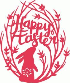 Silhouette Design Store - View Design #77222: retro folk happy easter nature