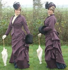 1880s Victorian riding habit by unknown blogger.