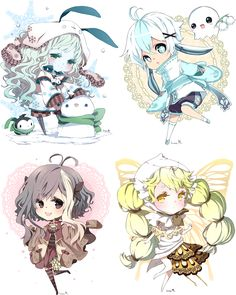 Chibi commissions for Moondust70 by inma.deviantart.com on @deviantART
