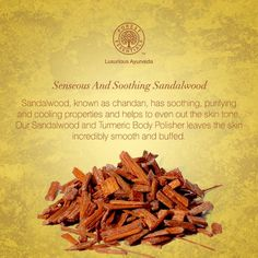 With the onset of #spring, as the #weather warms up, apply a cooling #Sandalwood paste to your body. This precious ingredient will protect, tone and hydrate your #skin. #IngredientOfTheWeek