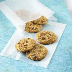 Old-fashioned oatmeal cookies are a cookie jar favorite.