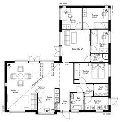 Attractive Plan De Maison Ossature Bois Plain Pied Maison Modernes