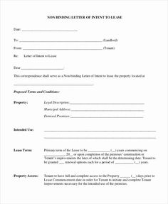 Letter of intent sample 10 free documents in pdf doc Sample Forms