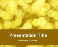 Blurred vision PowerPoint Template
