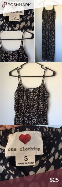 One Clothing Cheetah Print Maxi Dress Size S/M ACCEPTING OFFERS. No low ballers or trades. Only worn once. Excellent condition. Like new. Can fit a small or a smaller medium. Mini Triangle cut out on front. Cute with sandals, heels or flats. Perfect for summer and spring. Or even fall with an oversized cardigan 🍁🍂. Retail $50 one clothing Dresses Maxi