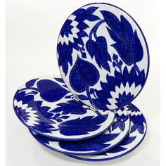White clay with cobalt blue hand painted. Shop Wayfair for Plates & Saucers to match every style and budget. Enjoy Free Shipping on most stuff, even big stuff.