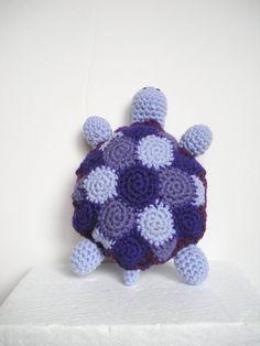 Plush Turtle Softy Crochet Animal Toy in shades of by #luvbuzz $28.00 #etsy #shopping #buyhandmade