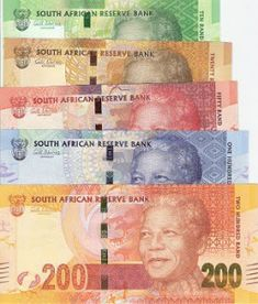 Economy- The currency of South Africa is the rand. It was established as the country's currency February 1 rand is equal to in US dollars. This is a photo of South African Rand. Driver License Online, Money Notes, Old Money, New South, African Countries, Old Coins, Nelson Mandela, African History, Coin Collecting