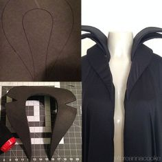 Breanna Cooke Maleficent costume collar DIY