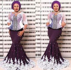 Amazing and Stylish Aso Ebi Skirt and Blouse Designs 2018 for Ladies #aso_ebi_styles #creative_ankara_skirt_and_blouse_styles
