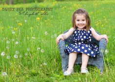 2 year old girl birthday photo shoot, ideas, field, country. Sweet Pea Photography, Norwalk, OH
