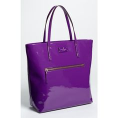 Kate Spade New York Patent Leather Bon Shopper ($258) ❤ liked on Polyvore