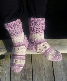 Restegarn sokker med falsk flette