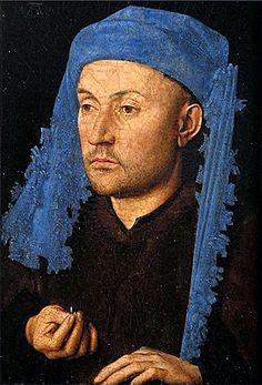 Jan van Eyck, L'homme au chaperon bleu, vers 1429