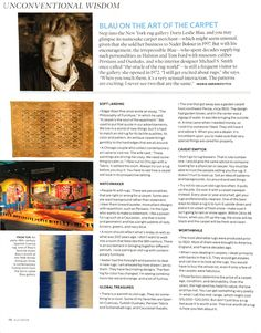 Unconventional Wisdom: Blau on the Art of the Carpet