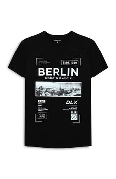 "T-shirt Berlin noir imprimé Get 10% off at any order only this week! Using the code- ""SPRING10"" at - www.TeeTake.com #follow- @teetake"