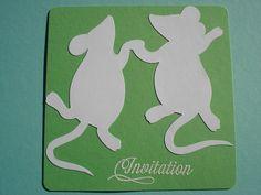 Cartes d'invitation anniversaire enfant, thème souris : Ecole et loisirs par filsetcouleurs