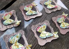 paper butterfly embellishments