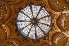 GALERIES LAFAYETTE  Galeries Lafayette in the 9th arrondissement is perhaps Paris's most famous department store, as remarkable for its lavish interior and its iconic Art Nouveau dome as for its range of products.