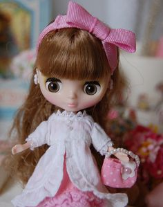 My beautiful petite Blythe doll~ by Sweet Victoria Rose, via Flickr