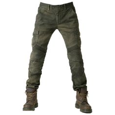 Slim straight fit - Cargo flap pockets - 11oz stretched Cotton (Cotton 97%, Spandex 3%) - Elastic shirring knee & waist-lower back panels - CE approved Removable knee & hip protectors included - YKK®