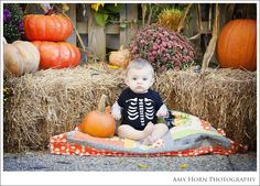 baby's first halloween photo session