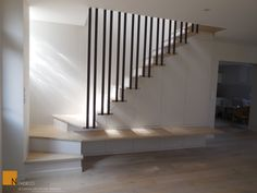 My Home Remodeling Loft Stairs, Basement Stairs, House Stairs, Escalier Design, Stair Walls, Small Space Interior Design, Apartment Makeover, Modern Stairs, Stair Storage