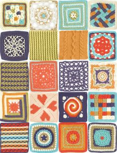 20 lovely afghan #crochet patterns, one free eBook! Imagine the mix and match possibilities. #afghans