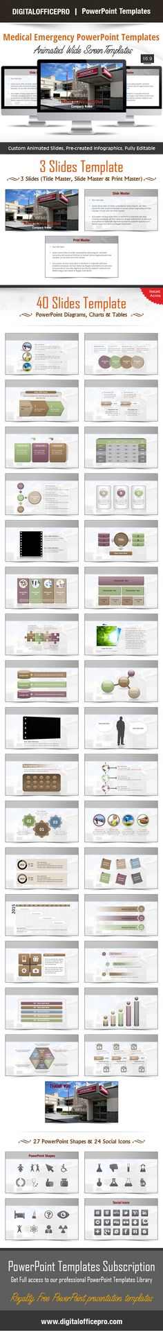 Impress and Engage your audience with Medical Emergency PowerPoint Template and Medical Emergency PowerPoint Backgrounds from DigitalOfficePro. Each template comes with a set of PowerPoint Diagrams, Charts & Shapes and are available for instant download.