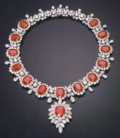 Ruby and diamond necklace by Harry Winston