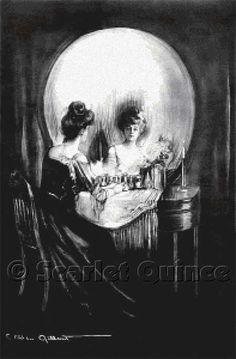 All Is Vanity--Charles Allan Gilbert  Counted Cross Stitch  If this werent so monochromatic I'd be tempted...