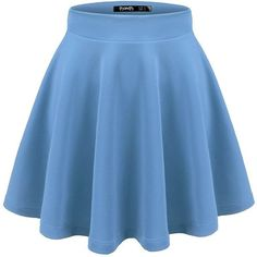 TWINTH Womens Versatile Stretchy Pleated Flare Skater Skirt ($9.97) ❤ liked on Polyvore featuring skirts, pleated skirt, circle skirt, flared hem skirt, knee length pleated skirt and pleated skater skirt