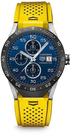 TAG Heuer Connected Smart #watches , 46mm; Wow how manly and refreshing colors...I love it!!!!! Cab a man fall in love with a watch hahaha? Ad.