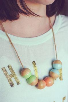 eighteen25: DIY Color Blocked Necklace