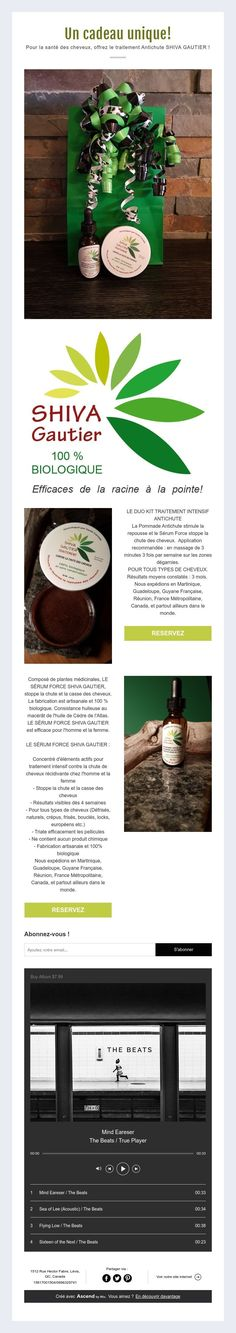 Un cadeau unique! Pour la santé des cheveux, offrez le traitement Antichute SHIVA GAUTIER !