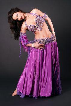 purple belly dance costume