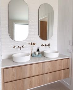 Bathroom Basin Cabinet, Timber Bathroom Vanities, Timber Vanity, White Bathroom Tiles, Wood Bathroom, Bathroom Ideas, Ensuite Bathrooms, Bathroom Layout, D House