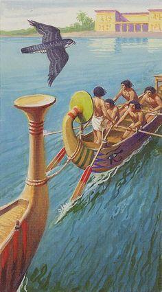 5 de bâtons - Ramsès : Tarot de l'éternité par Severino Baraldi