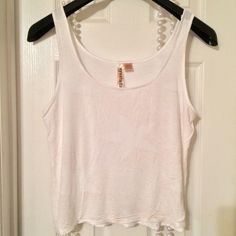 🆕Listing🆕 sexy Tank Sexy White tank with Gold specks and Stars, in good condition EyeShadow Tops Tank Tops