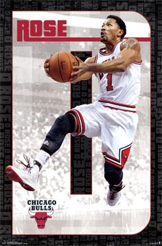Chicago Bulls - D. Rose 2014 | NBA | Sports | Hardboards | Wall Decor | NHL | NFL | MLB | Billiards | Baseball | Basketball | Boxing | Racing | Soccer | Golf | Wrestling | Pictures Frames and More | Winnipeg | Manitoba | MB | Canada
