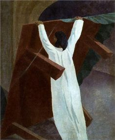Christ Overturning the Money Charger's Table - Stanley Spencer