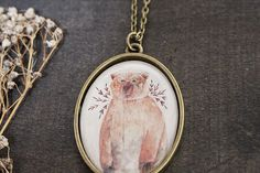 Brown Bear Necklace. Woodland Necklace. by TheBlueRabbitHouse
