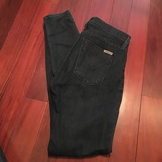 HUDSON Nico Midrise Super Skinny Jeans These were worn for 2 seasons but have tons of life left!! Dark blue in color. Stretchy material. Hudson Jeans Jeans Skinny