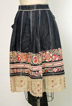 Czech, 19th century. Inspiration for a skirt redo