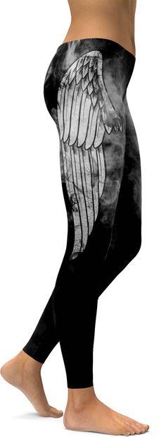 Angel Wing Leggings - GearBunch Leggings / Yoga Pants