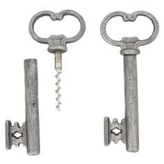Skeleton key bottle opener/corkscrew